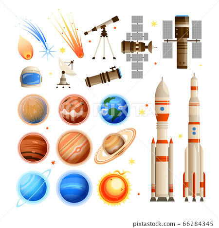 Space Essentials Icon Set 66284345