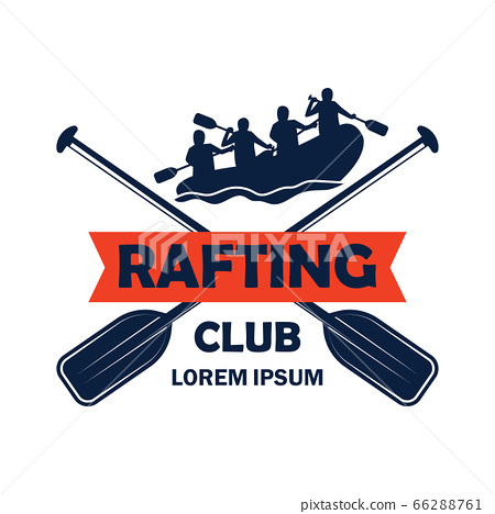 rafting logo with text space for your slogan 66288761