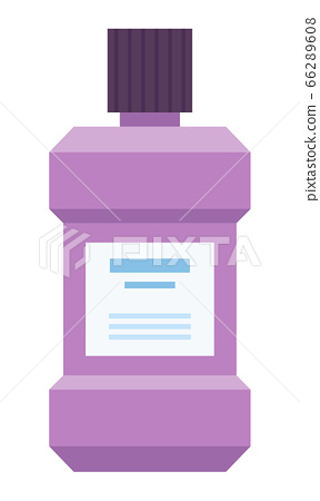 Bottle of the mouthwash vector icon flat isolated 66289608