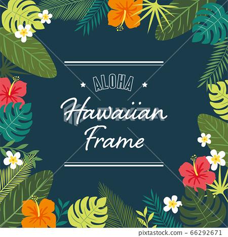 히비스커스와 식물의 하와이 프레임 66292671
