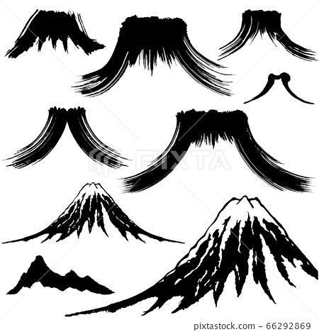 Mountain brush illustration (handwritten) 66292869