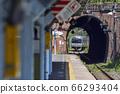 日本遺產的七g隧道[JR橫須賀線E217系列]田浦站 66293404