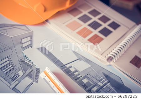 Architect's workplace There are examples of 66297225