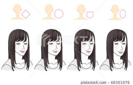 美illustration_hairstyle圖按臉型 66301076