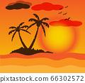 Beautiful Landscape on sunset 66302572