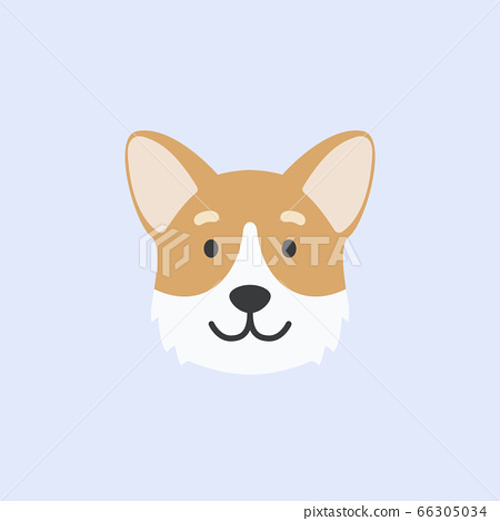 corgi dog face. cute vector illustration 66305034