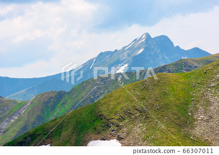 stunning landscape in high mountains of romania. 66307011