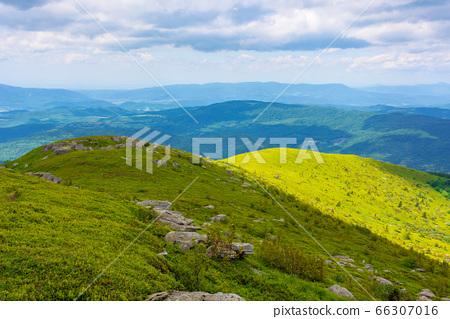 wonderful mountain landscape in summer. beauty of 66307016
