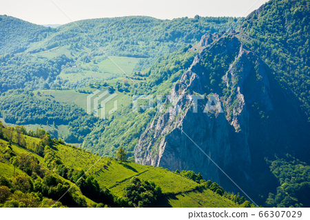rocks and cliff of romania gorges. beautiful 66307029