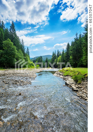 river in the mountain landscape. beautiful nature 66307047