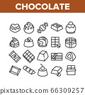 Chocolate Sweet Food Collection Icons Set Vector 66309257