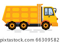 Construction Car with Stairs, Dump Truck Vector 66309582