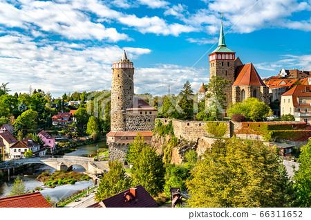 Alte Wasserkunst Tower and Michaeliskirche Church in Bautzen, Germany 66311652