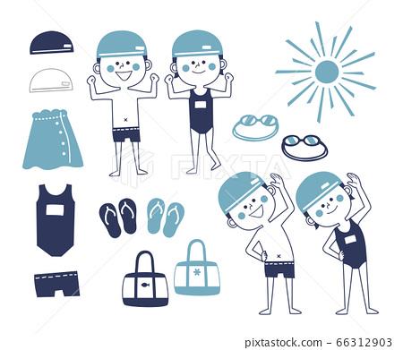 兒童游泳套裝 66312903