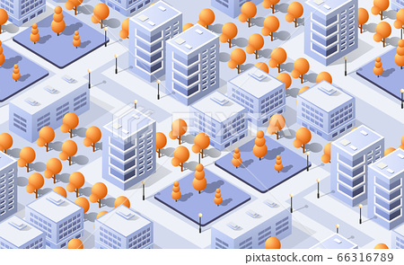 Architecture vector illustration city for business background with isometric skyscraper 66316789