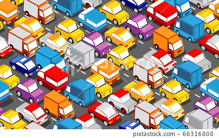 Seamless repeating urban pattern Isometric area of the city car parking 66316808