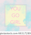 YOU GO GIRL encouraging quote in a frame 66317289