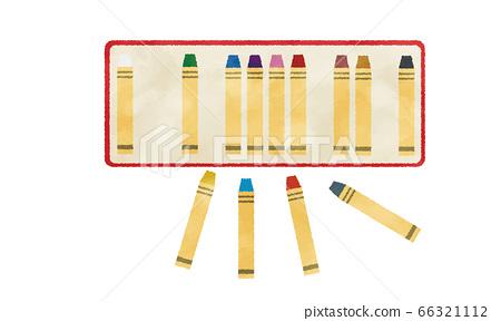 蠟筆在一個盒子里水彩風格的插圖 66321112