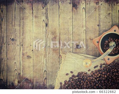 커피 콩을 표현한 소재 66322662