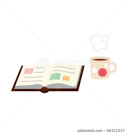 차단 소재 - 책과 뜨거운 음료 테크 66322837