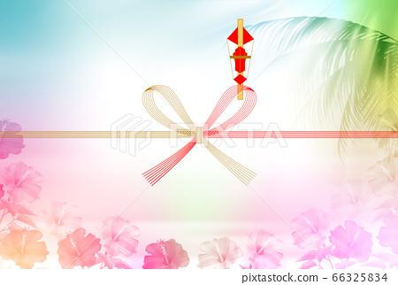 Noshi hibiscus palm background 66325834