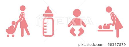 stroller icon baby push vector 66327879