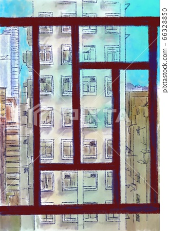 Nostalgic view through Hong Kong hotel window 66328850