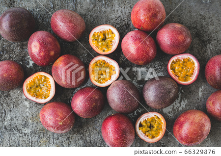 Fresh passion fruits-Healthy fruit 66329876