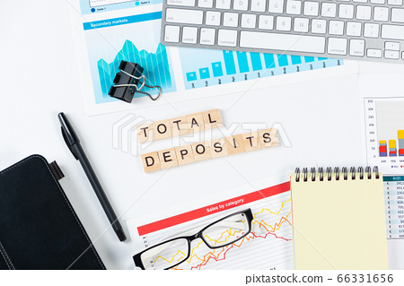 Total deposits concept with letters on cubes 66331656