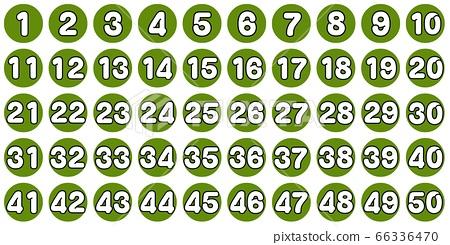 흰색 숫자 老竹色 1 ~ 50 66336470