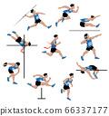 sportsman decathlon isolated on white background 66337177