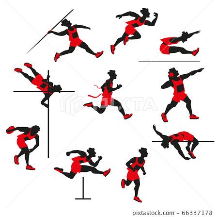 sportsman decathlon isolated on white background 66337178