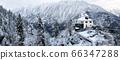 Viewpoint of Hallstatt Winter snow mountain pine 66347288
