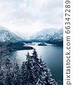 Scenery of Hallstatt Winter snow mountain 66347289