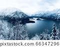 Scenery of Hallstatt Winter snow mountain 66347296