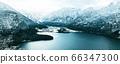 Panorama of Hallstatt Winter snow mountain 66347300