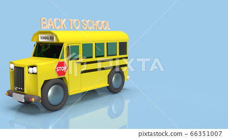 The school bus 3d rendering for back to school content. 66351007