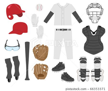 야구기구 일러스트 세트 / 일반 컬러 66353371