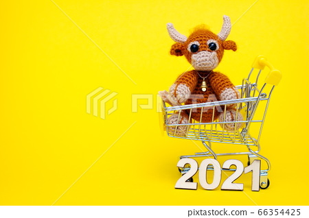 The bull is the Symbol of the new year 2021. 66354425