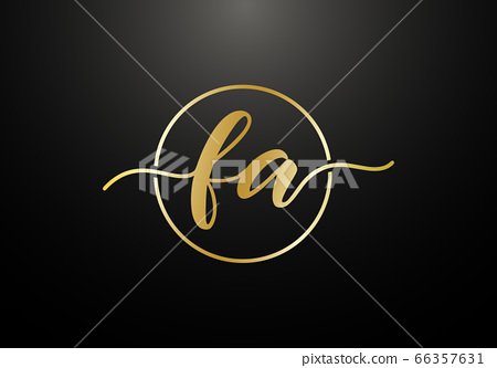 Initial Monogram Letter FA Logo Design Vector Template. FA Letter Logo Design 66357631