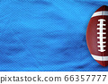 Sky blue American Football Jersey textured with a football on a vertical view 66357777