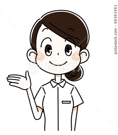 一個伸開雙手的女人 66363461