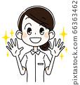 Nurse woman with shiny hands 66363462