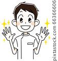 Nurse woman with shiny hands 66366606