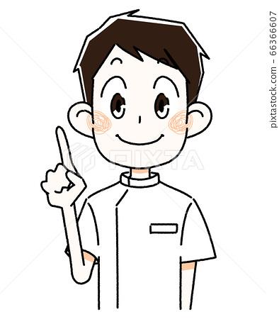 檢查站,護士,男人 66366607