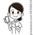 Nurse woman with smartphone 66368014