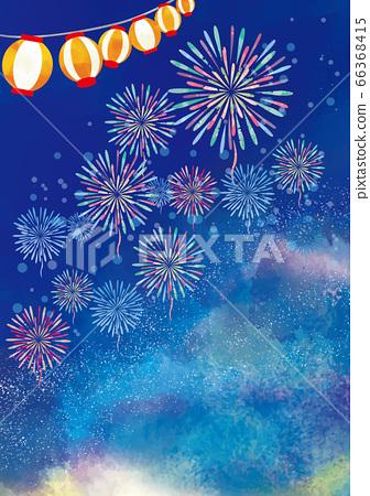 불꽃 놀이 축제 여름 이벤트의 배경 소재 66368415