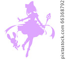 Magical girl style silhouette illustration 66368792