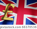 Golden British Money currency Sign for Business 66370536