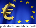 EUR Euro Currency Sign with European Union 66370548